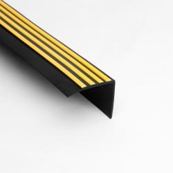 PVC trapneus - Zwart+Geel